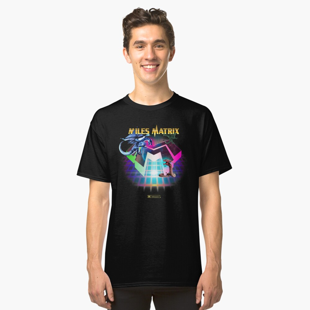 """Miles Matrix """"The Power of Synthwave"""" Classic T-Shirt"""