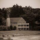 Lake Huron Lighthouse by Joe McTamney