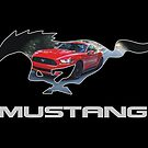 Ford Mustang Logo Design (on black) by TheCartist