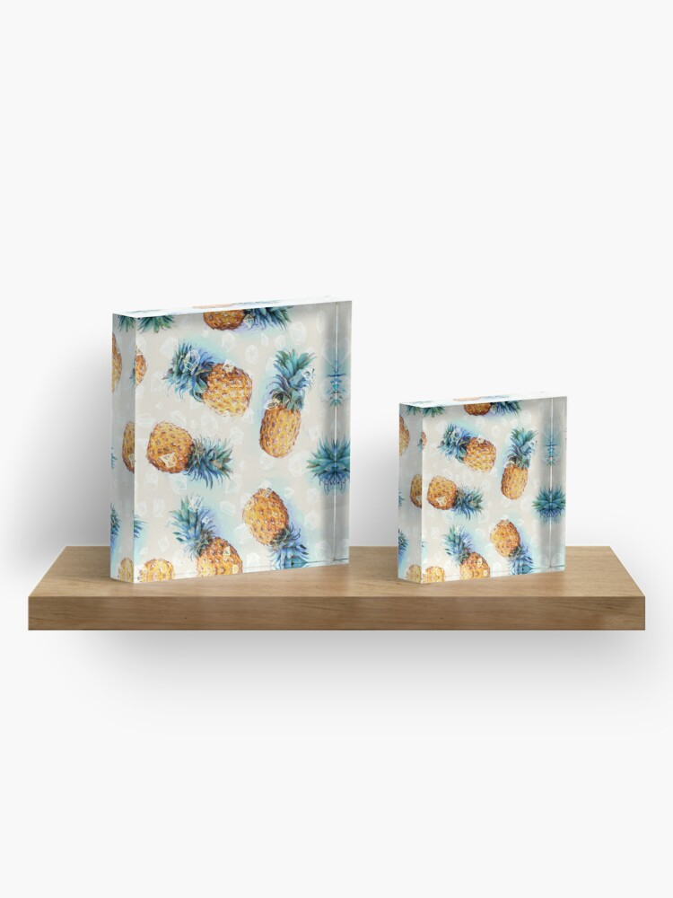 Alternate view of Pineapples + Crystals Acrylic Block