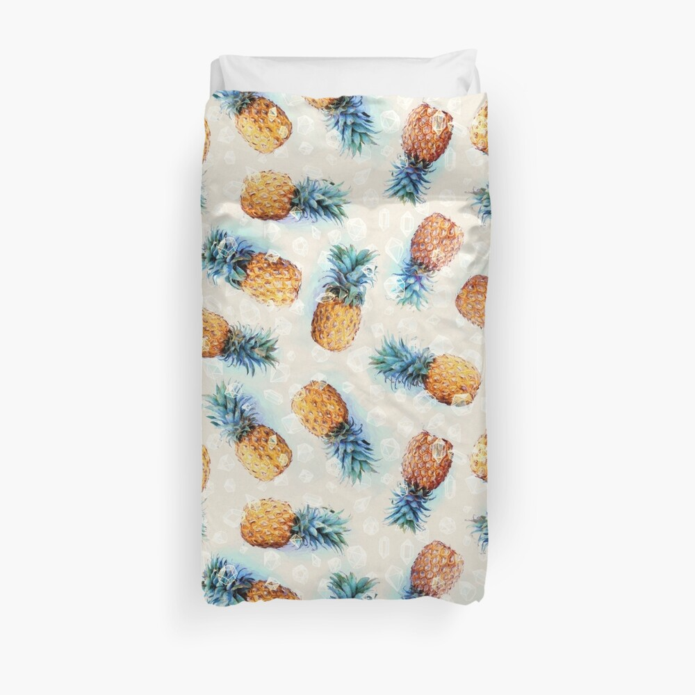 Pineapples + Crystals Duvet Cover