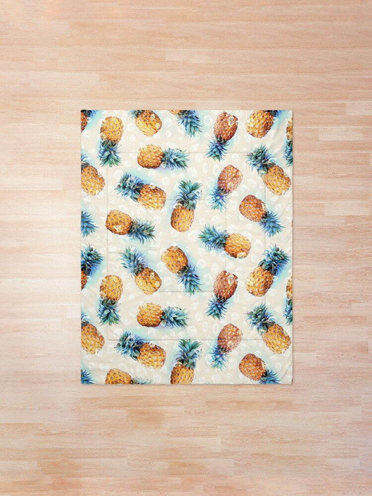 Alternate view of Pineapples + Crystals Comforter