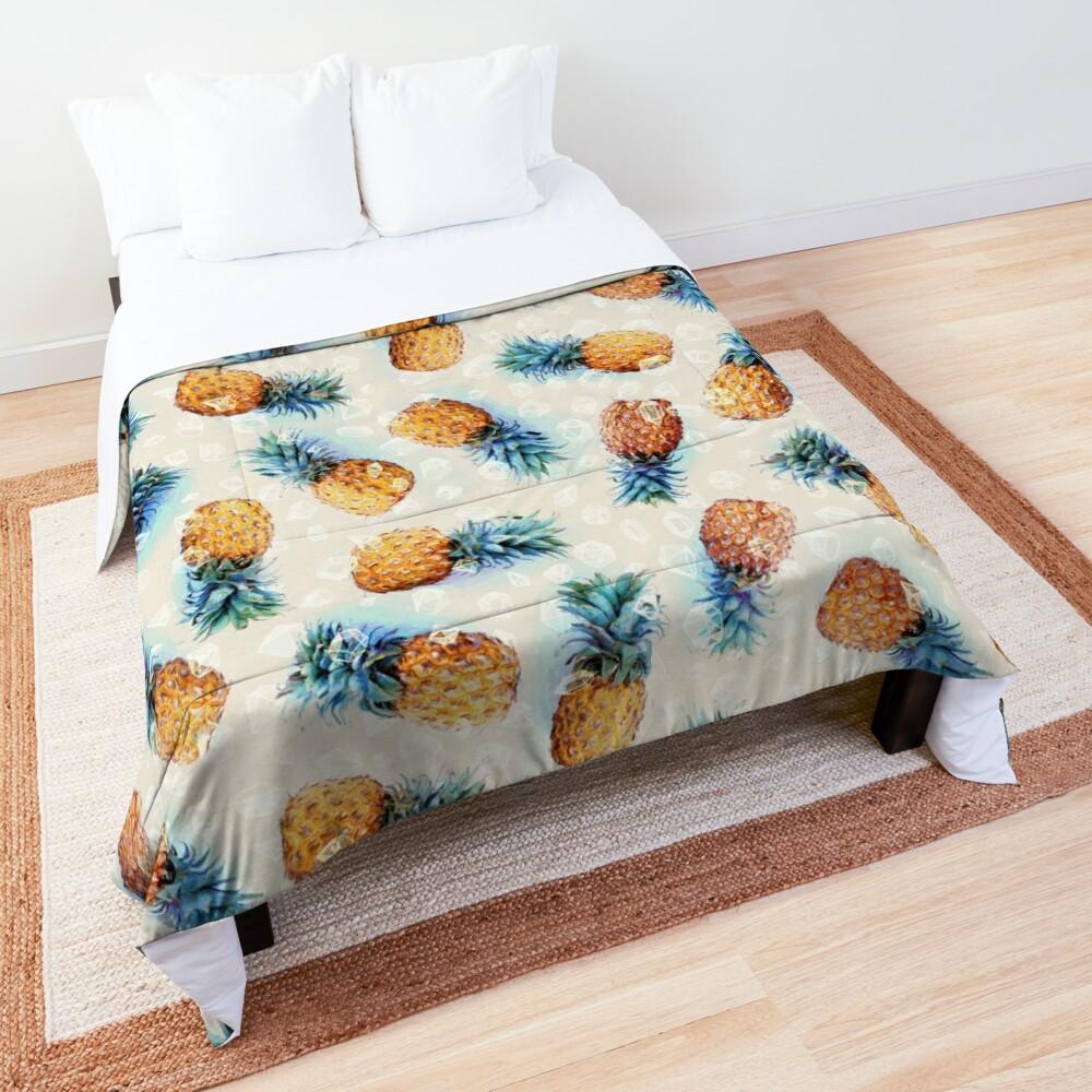 Pineapples + Crystals Comforter