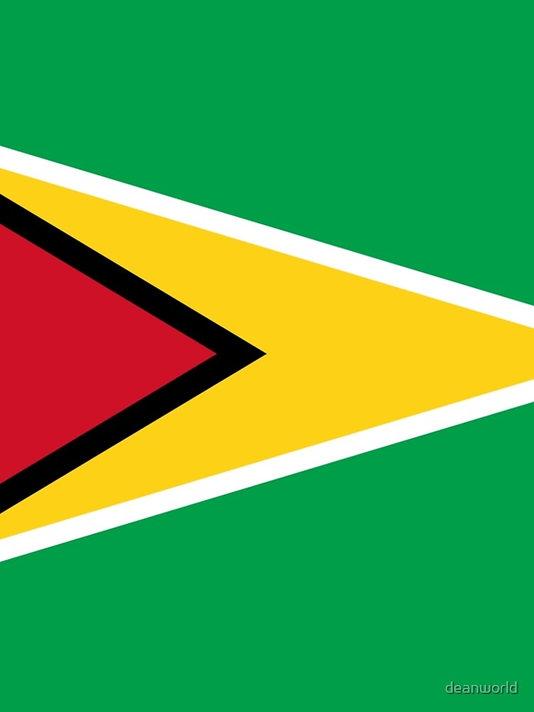 Guyana Flag T-Shirt - Guyanese Sticker by deanworld