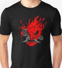 Camiseta ajustada Cyberpunk 2077 - Samurai Demon