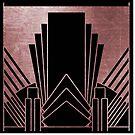 Pink Art-Deco-Design von peggieprints