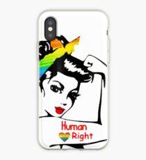 Vinilo o funda para iPhone Lady Human Right LGBT Pride Edición Limitada
