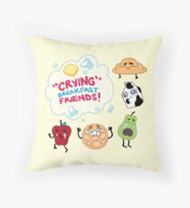 """Crying"" Breakfast Friends! // Steven Universe Throw Pillow"