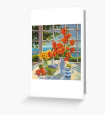 The red poppies and green apples Greeting Card