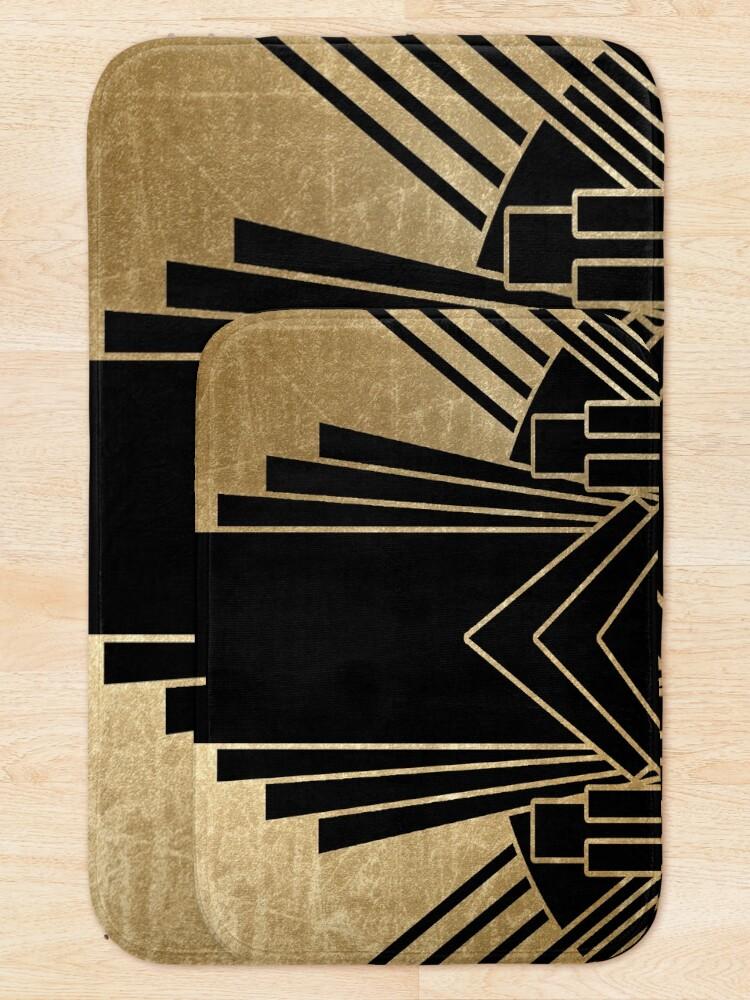 Alternative Ansicht von Art-Deco-Design Badematte