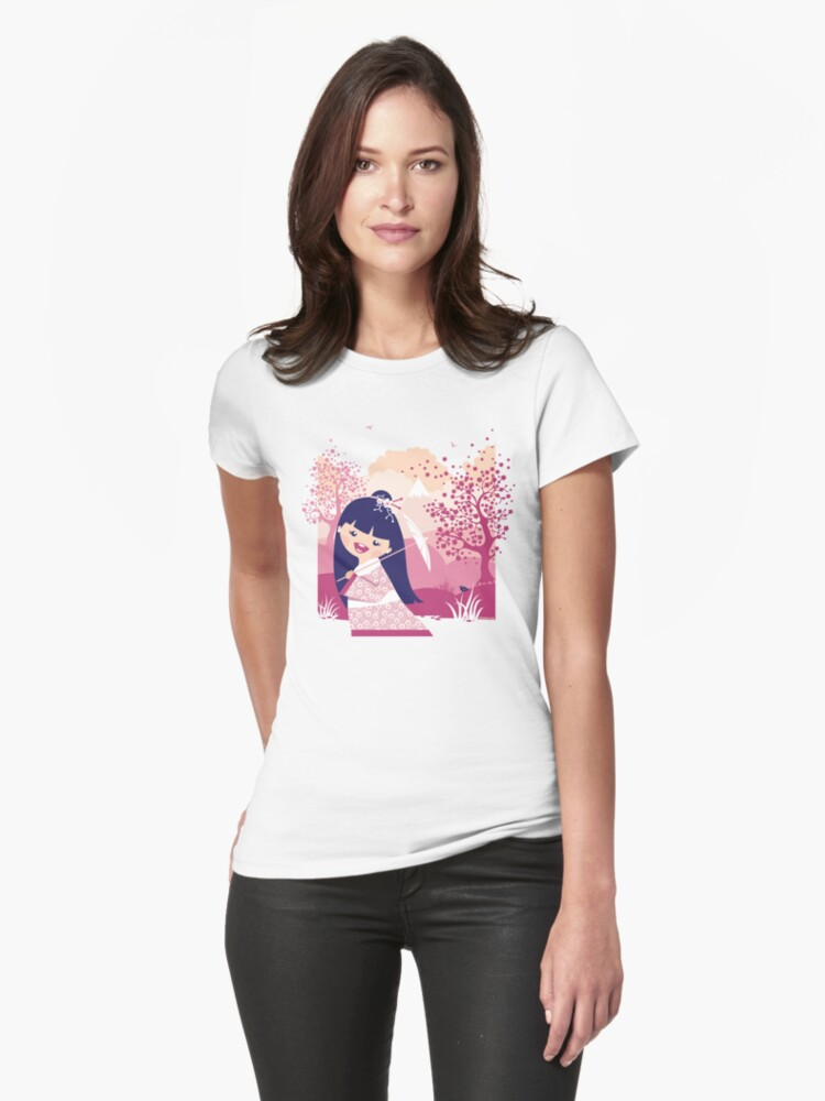 Walk In The  Cherry Garden by oksancia