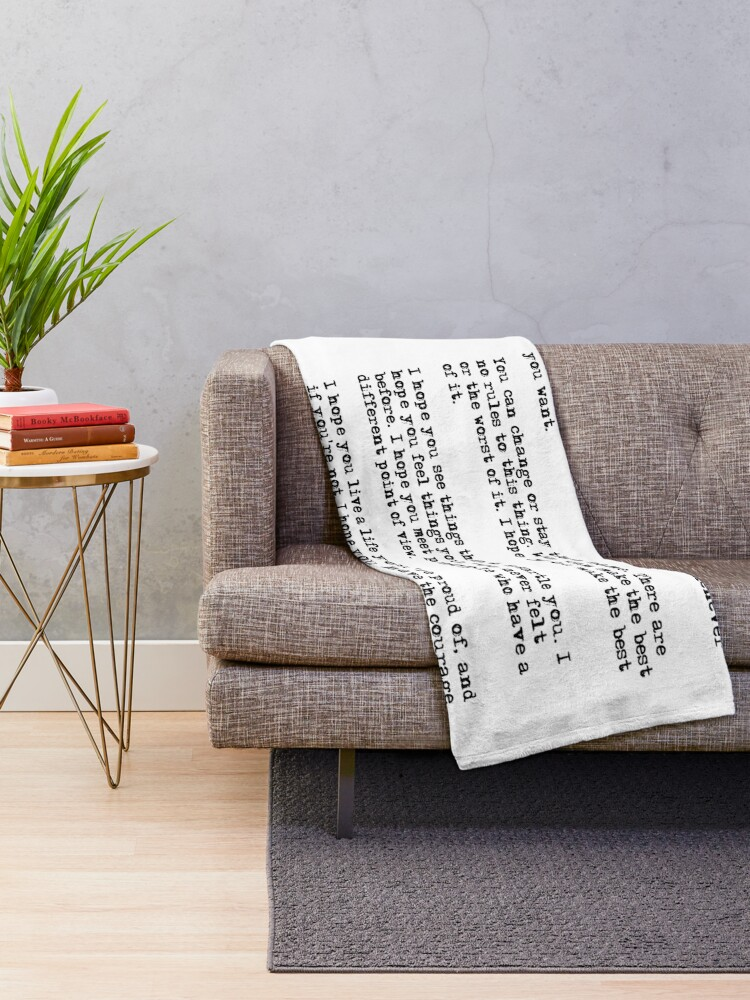 Alternate view of For what it's worth - F Scott Fitzgerald quote Throw Blanket