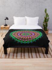 Full bloom Mandala Throw Blanket
