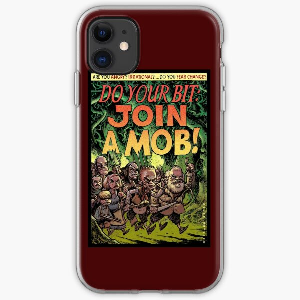 Join a mob! iPhone Soft Case