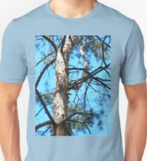 Detail of the trunk of a young pine tree  T-Shirt