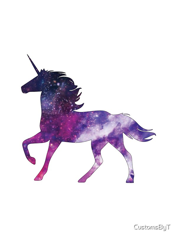 Quot Fancy Unicorn Galaxy Quot Stickers By Customsbyt Redbubble