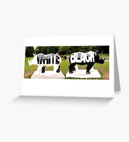 BLACK & WHITE Greeting Card