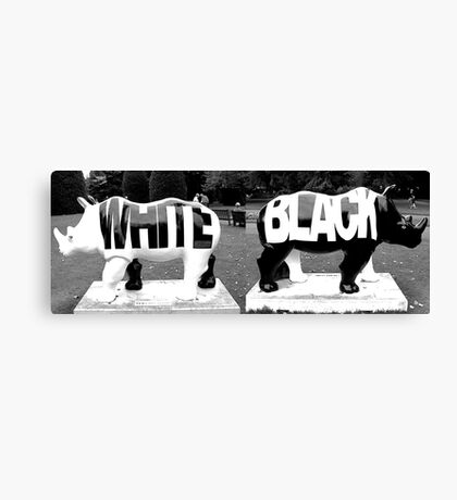 BLACK & WHITE in Black & White Canvas Print