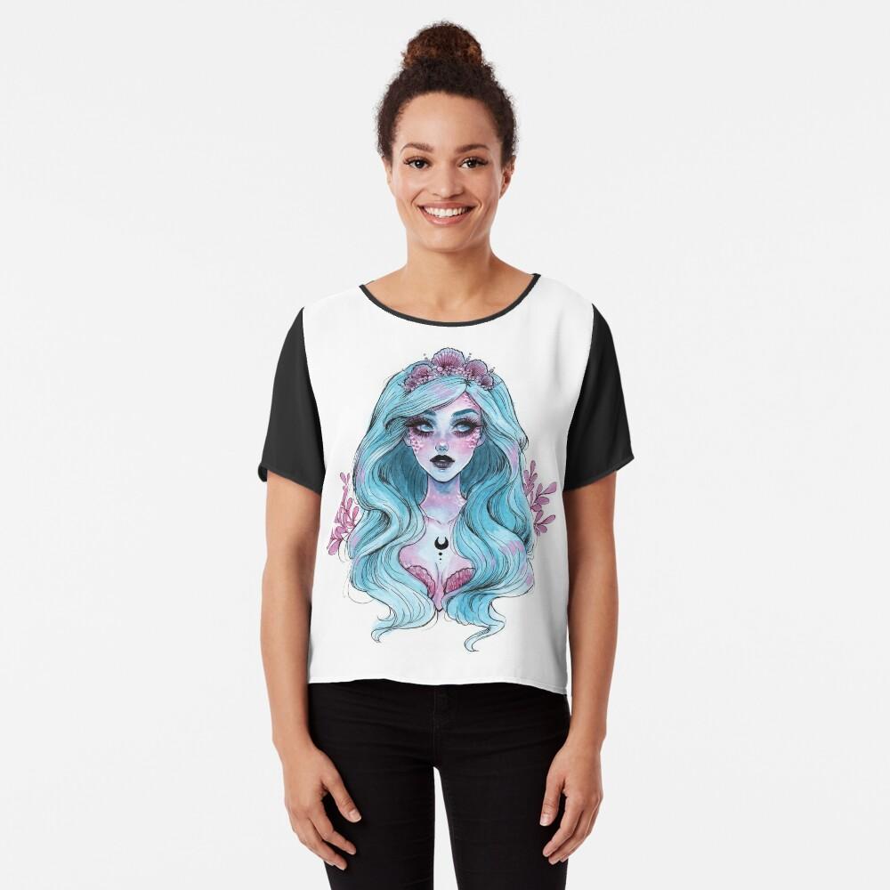 Perlglänzende Meerjungfrau Chiffon Top
