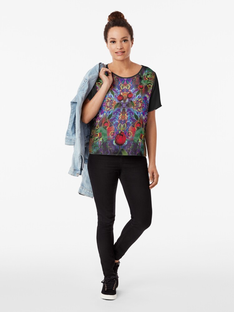 Alternate view of Vision with Tulips Chiffon Top