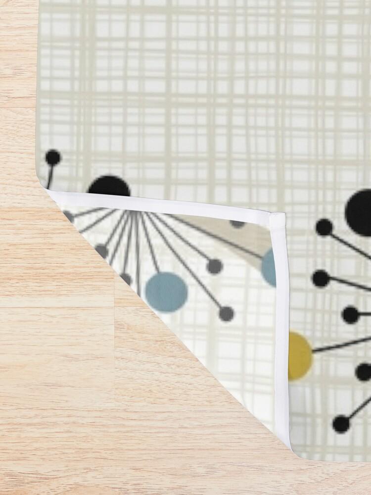 Alternate view of Eames Era Starbursts Shower Curtain