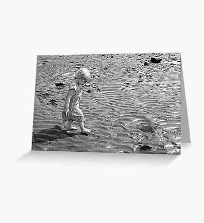 Martha on the beach 1 Greeting Card