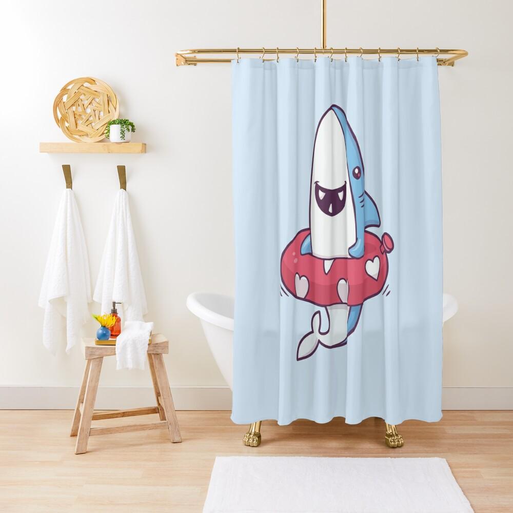 Shark Summer Fun Shower Curtain