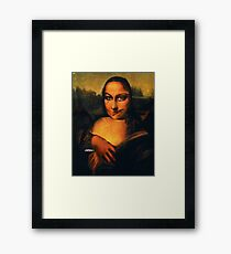 Smirking Mona Framed Print
