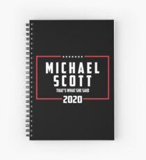 unique font Spiral Notebook