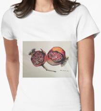 Pomegranate. Pen and wash 2012 Womens Fitted T-Shirt