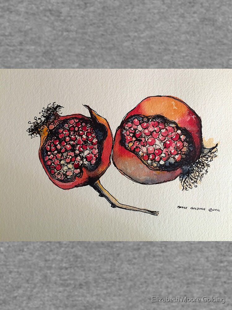 Pomegranate. Pen and wash 2012 by emgolding