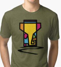 Abstract Art Of Lord Ganesha Design Tri-blend T-Shirt