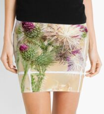Colourful Thistle Mosaic  Mini Skirt