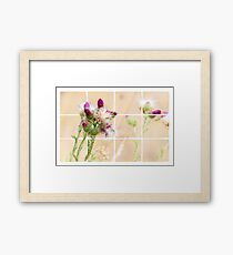 Colourful Thistle Mosaic  Framed Print