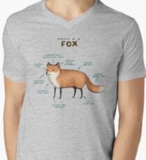Anatomy of a Fox Men's V-Neck T-Shirt