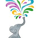 Playful Elephant by whimsystation
