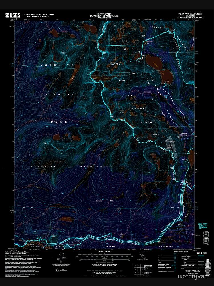 USGS TOPO Map California CA Tioga Pass 295479 1994 24000 geo Inverted von wetdryvac