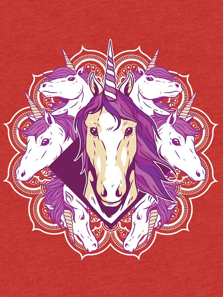 Unicorn Mandala by angelandspot
