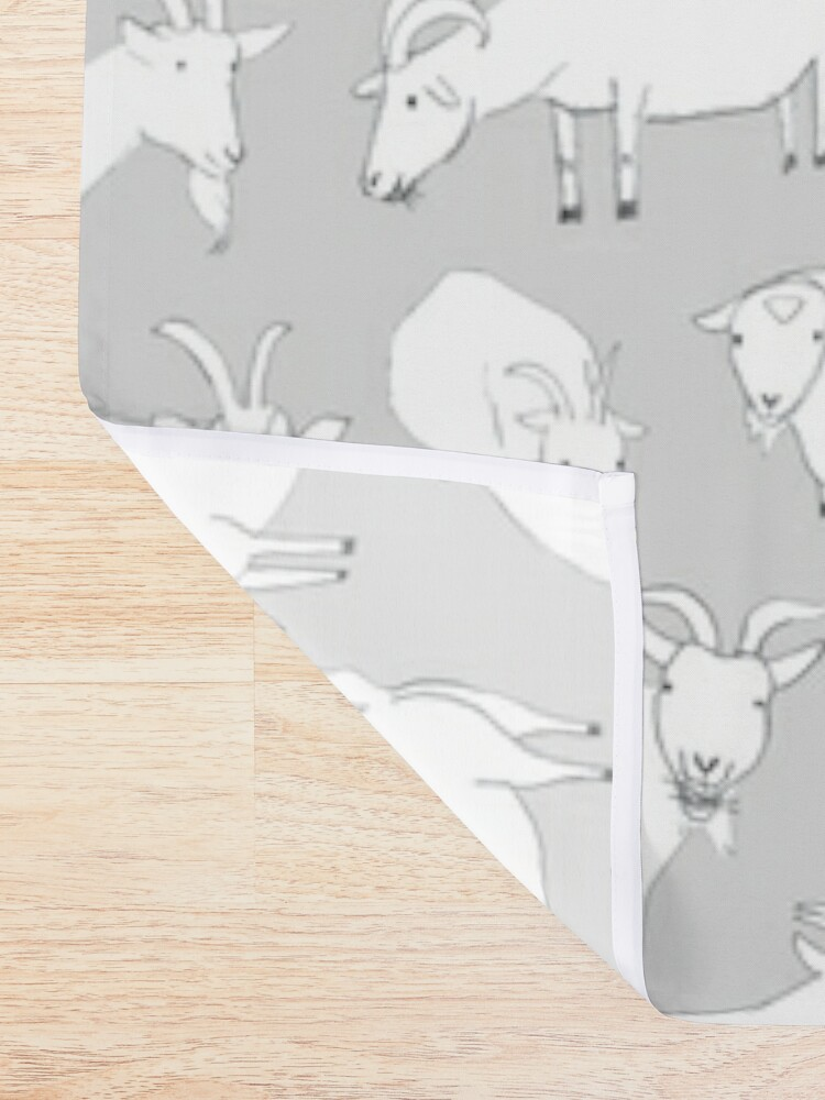 Alternate view of Charity Fundraiser - Grey  Goats Shower Curtain