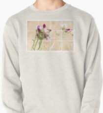 Colourful Thistle Mosaic  Pullover Sweatshirt