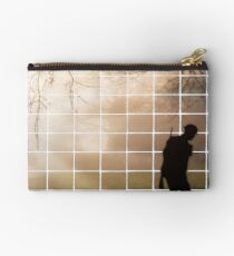 Remembrance Tribute - Soldier -  Going Down of the Sun Zipper Pouch