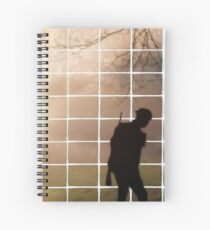 Remembrance Tribute - Soldier -  Going Down of the Sun Spiral Notebook