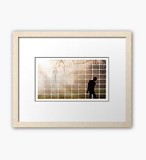 Remembrance Tribute - Soldier -  Going Down of the Sun Framed Print