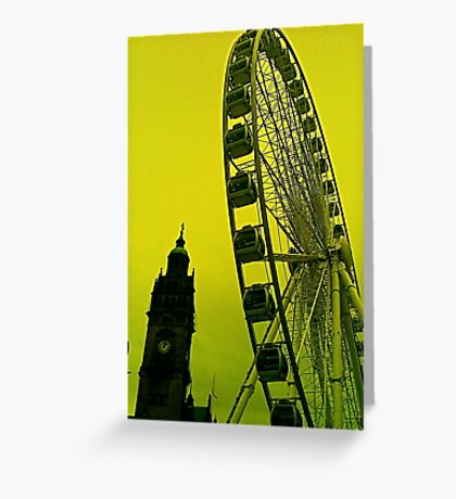 The Wheel and Sheffield Town Hall  Greeting Card