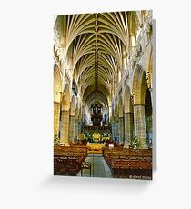 Exeter Cathedral Greeting Card