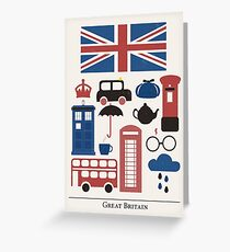 I heart Great Britain Greeting Card