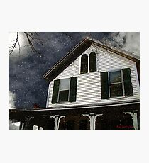 Snowstorm In from the Sound Photographic Print