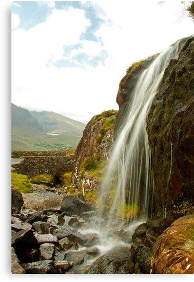 Waterfall at the Conor Pass by Martina Fagan