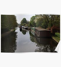 Houseboats on the Grand Union Canal at Cowley West London Poster