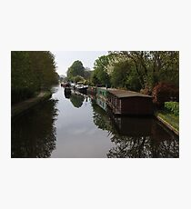 Houseboats on the Grand Union Canal at Cowley West London Photographic Print